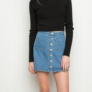 Brandy Melville Denim Button Up Skirt